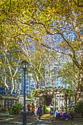 Bryant Framed Prints - Bryant Park Afternoon Framed Print by Richard Trahan