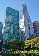 Bryant Park And Architecture Print by Dawn Williams