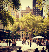 Bryant Park New York Framed Prints - Bryant Park Framed Print by Cindy Bokma