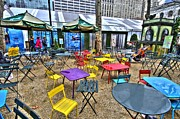 Bryant Park In Vivid Color Print by Laura Bode
