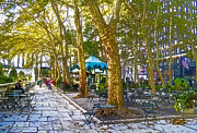 Bryant Park October Print by Liz Leyden
