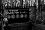 Bryant Park Framed Prints - Bryant Park Station Framed Print by Mike Horvath