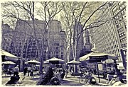 Bryant Photo Framed Prints - Bryant Park Framed Print by Tony Ambrosio