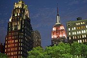 Bryant Park View Print by Christopher Woods