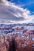 Winter Photographs Prints - Bryce Canyon Lenticular Cloud Print by Rob Travis