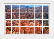 Picture Window Frame Photos Art - Bryce Canyon White Picture Window View by James Bo Insogna