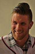 Washington Nationals Prints - Bryce Harper Print by William James