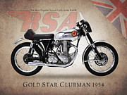 Bsa Prints - BSA Gold Star Print by Mark Rogan