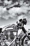 Biking Prints - BSA Rocket Gold Star Monochrome Print by Tim Gainey