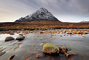 Snow-covered Landscape Art - Buachaille Etive Mor  by Grant Glendinning