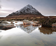 Buachaille Etive Mor Photos - Buachaille Etive Mor Reflection by Maria Gaellman