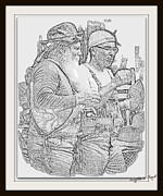 Bubba Metal Prints - Bubba and Bubba by Angela Clay Metal Print by Angela Hodges Clay