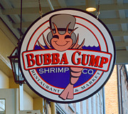 Bubba Metal Prints - Bubba Gump Shrimp Sign Metal Print by Alys Caviness-Gober
