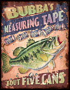 Bubba Metal Prints - Bubba Measuring Tape Metal Print by JQ Licensing
