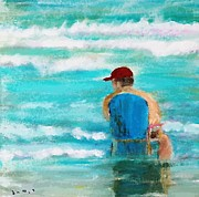 Panama City Beach Painting Prints - Bubbas Beach Print by Susan Hart