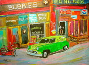 Chevrolet Sedan Delivery Paintings - Bubbies Special Delivery by Michael Litvack