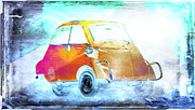 Bass Digital Art Prints - Bubble Car Print by David Ridley