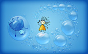 Living Photos - Bubble Folks by Sanely Great