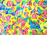 Candy Paintings - Bubble Gum  by Beth Saffer