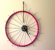 Wheel Sculptures - Bubble Gum by Michael Ediza