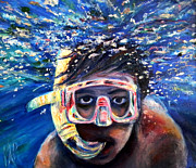Swimmer Originals - Bubbleboy by Art by Kar