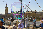 Big Ben Posters - Bubbles Big Ben Poster by David French