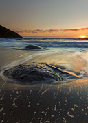 Creek Prints - Bubbles on the Sand Print by Mike  Dawson