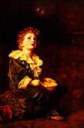 Gold Foil Prints Framed Prints - Bubbles Sir John Everett Millais Framed Print by MotionAge Art and Design - Ahmet Asar