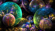 Bubbles Upon Bubbles Print by Peggi Wolfe
