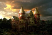 Haunted House Digital Art Metal Prints - Buchan house Metal Print by Tom Straub