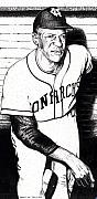 Negro Leagues Drawings Prints - Buck ONeill Print by Bruce Kay