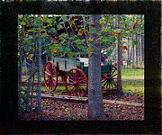 Meanings Digital Art Posters - Buckboard Wagon in Andersonville GA Poster by Kim Pate