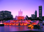Chicago Prints Framed Prints - Buckingham Fountain # 3 Framed Print by Thomas Firak
