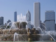 Chicago Fountain Prints - Buckingham Fountain Print by Ann Horn