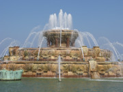 Chicago Fountain Prints - Buckingham Fountain - Chicago Print by Ann Horn