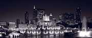Twilight Prints - Buckingham Fountain Panorama Print by Steve Gadomski