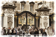 Red Coats Framed Prints - Buckingham Palace Gates Framed Print by Jon Berghoff