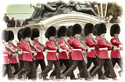 Red Coats Framed Prints - Buckingham Palace Guards Framed Print by Jon Berghoff