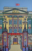 Cambridge Painting Prints - Buckingham Palace Print by Nicky Leigh