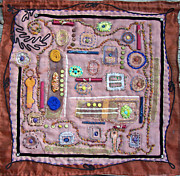Yarn Tapestries - Textiles Posters - Buckles and Keys Poster by Sue Gilliam