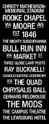 The Bull Posters - Bucknell College Town Wall Art Poster by Replay Photos