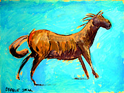 Drawing Painting Originals - Buckskin Pony series by Charlie Spear