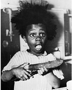 Scared Drawings Posters - Buckwheat hair Poster by Buckwheat