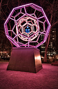 Nyc Art Prints - bucky ball Madison square park Print by John Farnan