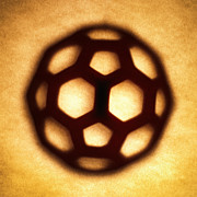 Silhouette Art - Buckyball by Tony Cordoza
