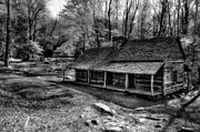 Old Cabins Prints - Bud Ogles Place Print by Deborah Scannell