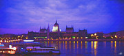 Steve Huang Prints - Budapest at Night Print by Steve Huang