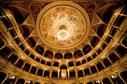 Frescoes Prints - Budapest Opera House Auditorium Print by Artur Bogacki