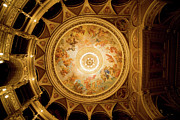 Painted Hall Metal Prints - Budapest Opera House Ceiling Frescos Metal Print by Artur Bogacki