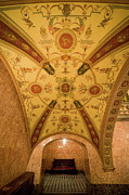 Frescoes Prints - Budapest Opera House Foyer Ceiling Print by Artur Bogacki